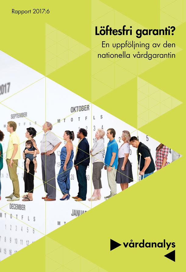 Omslagsbild med personer i kö