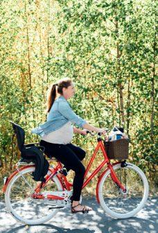 Gravid kvinna cyklar