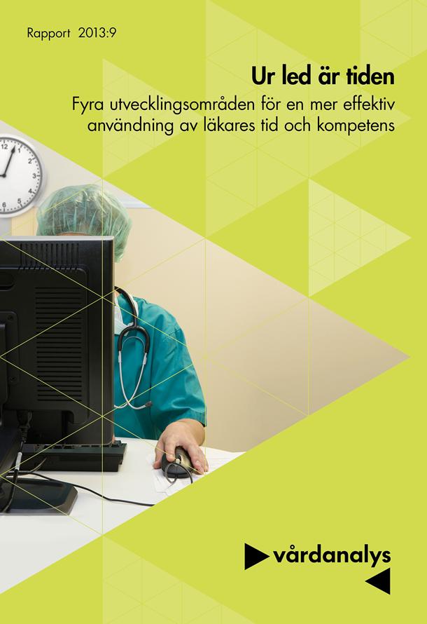 Omslag läkare framför dator